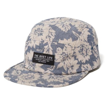 The Quiet Life - Denim Floral 5 Panel Camper Hat