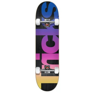 Tricks Multicolour Mini Complete Skateboard - 7.25""