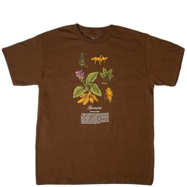 Snack Skateboards Turmeric T-Shirt - Brown