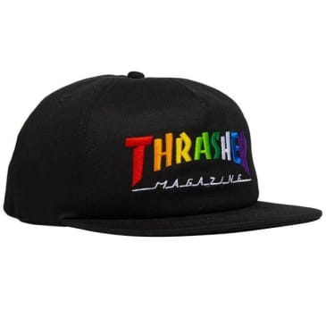 THRASHER RAINBOW MAG HAT - BLACK