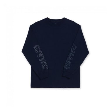 Quasi Les Long Sleeve T-Shirt - Navy Blue