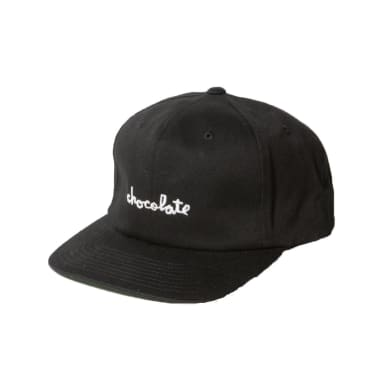 Chocolate Chunk 6 Panel Strapback Black