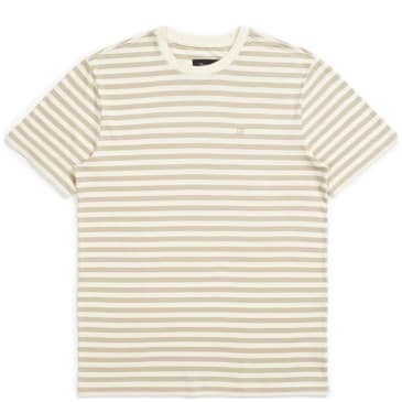 Brixton Hilt Mini Stripe Knit T-Shirt - Dove / Rock