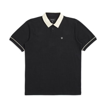 Brixton Carlos S/S Polo Knit Shirt Black/Dove