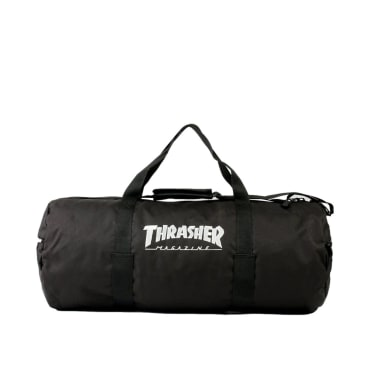 Thrasher Mag Logo Skate Duffel Bag Black