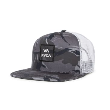 RVCA VA All The Way Trucker III Cap - Black/Camo