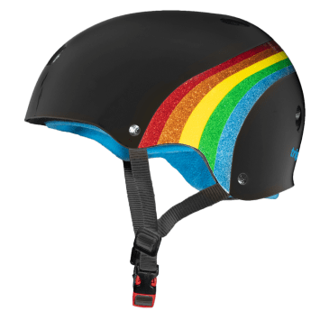 Triple Eight Certified Sweatsaver Helmet (Rainbow Sparkle/Black)