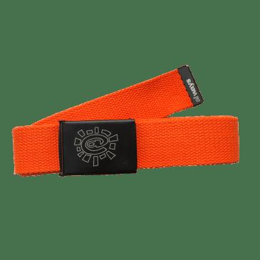 always do what you should do - orange canvas belt