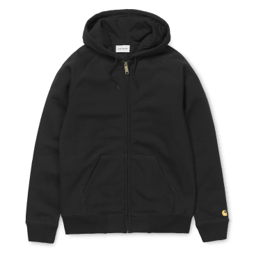 Carhartt WIP Hooded Chase Jacket - Black/Gold
