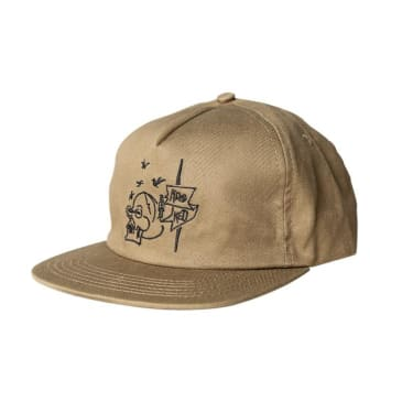 Krooked Skateboards Death Khaki / Black Hat - Adjustable