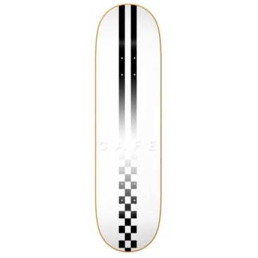 Skateboard Cafe Fast Check Embossed Deck - White