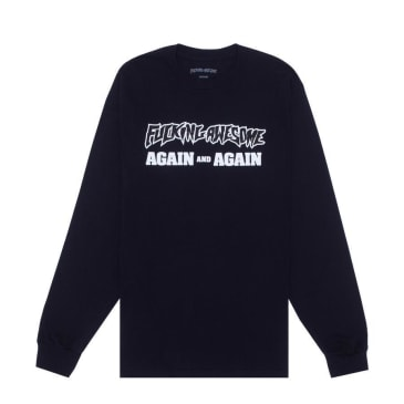 Fucking Awesome Again and Again Long Sleeve T-Shirt - Black