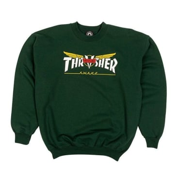 Thrasher Venture Collab Crewneck - Forest Green