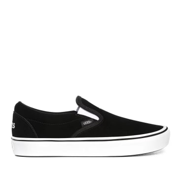 Vans Sixty Sixers Comfycush Slip On Shoes - Black / True White