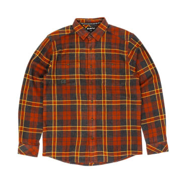 KAVU Big Joe Long Sleeve Shirt - Red Oak