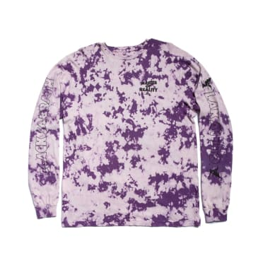 Lakai x Black Sabbath Master of Reality Long Sleeve T-Shirt - Purple Tie Dye