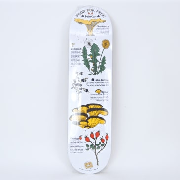 """The Drawing Boards - 8.0"""" Food for Free (Winter) Skateboard Deck"""