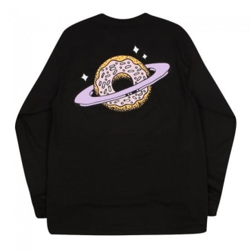 Skateboard Planet Donut Longsleeve T-Shirt - Black