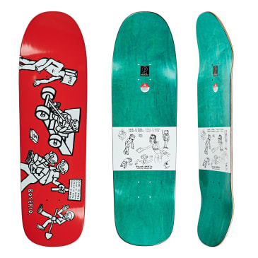 "Polar Skate Co Nick Boserio Cash Is Queen Red Skateboard Deck - 9.25"" 1991 Special Shape"