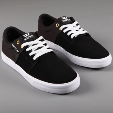 Supra 'Stacks Vulc II' Skate Shoes (Black / Black - White)