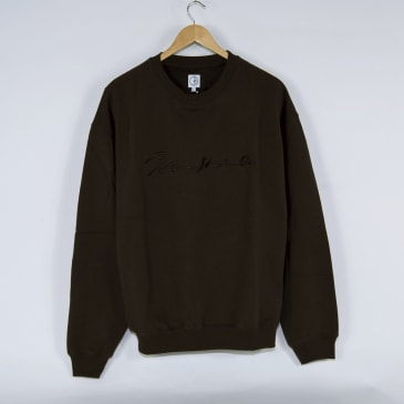 Polar Skate Co. - Signature Crewneck Sweatshirt - Brown