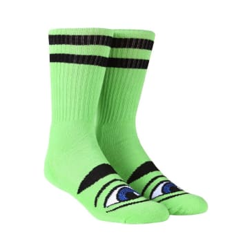 Toy Machine Sect Eye Crew Socks (Green)
