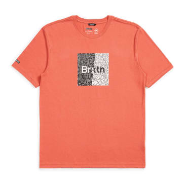 Brixton - Crowd Art S/S Tee - Coral