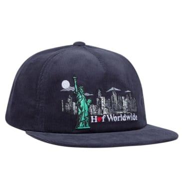 Huf Liberty Snapback Hat (Navy Blazer)