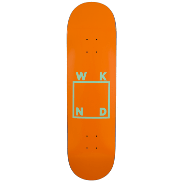 WKND - Orange/Mint Logo Skateboard Deck - 8.0"