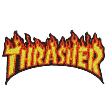 Thrasher Patch Flame