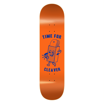 """Cleaver Skateboards - 8.25"""" Time For Deck - Orange"""