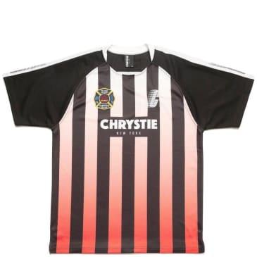 Chrystie NYC Stripe Soccer Jersey - Red / Black