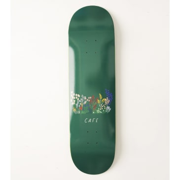 Skateboard Cafe Flower Bed Skateboard Deck Forest Green - 8.5""
