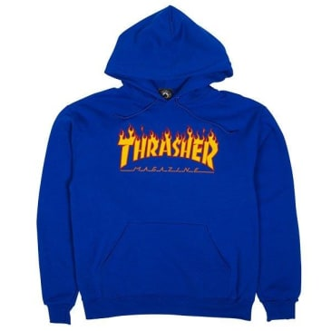 Thrasher - Flame Logo Hood (Royal Blue)