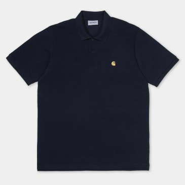 Carhartt WIP Chase Pique S/S Polo Navy