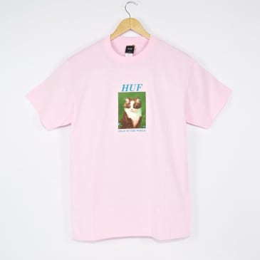 Huf - Lost T-Shirt - Coral Pink