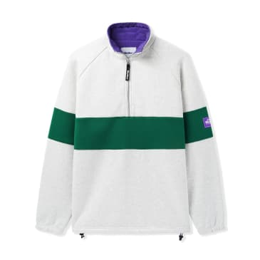 Butter Sect 1/4 Zip Pullover Oatmeal - Forest