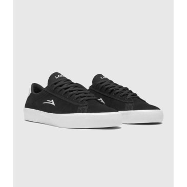 Lakai Newport Skate Shoes Black Suede