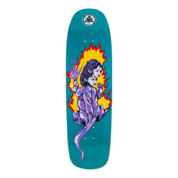 Welcome Skateboards Komodo Queen on Golem Skateboard Deck Dark Teal - 9.25""