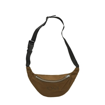 Polar Skate Co Waxed Cotton Hip Bag - Brown