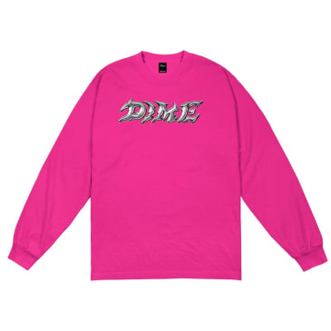 Dime Blade Long Sleeve T-Shirt - Fuchsia
