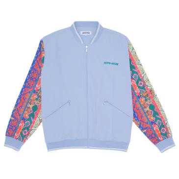 Fucking Awesome Pattern Sleeve Track Jacket - Light Blue / Bengal