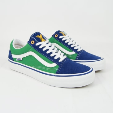 Vans - Sci-Fi Fantasy Old Skool Pro Shoes - True Blue / Green / White
