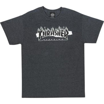 THRASHER RIPPED TEE - GRAY