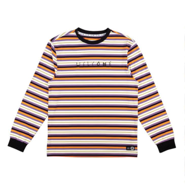 Welcome Skateboards Surf Stripe Yarn Dyed Long Sleeve Knit T-Shirt - Dusk