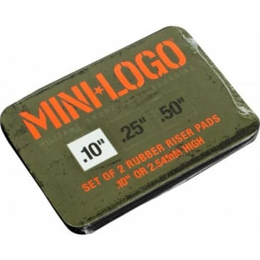"Mini Logo Risers ""4"" Rubber Skateboard Riser Pads - Black"