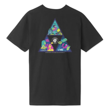 HUF Comics Triple Triangle Tee Black