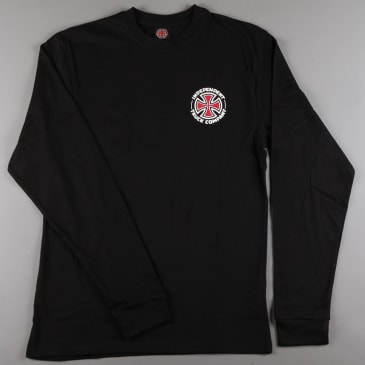 Independent 'Repeat Cross' Longsleeve T-Shirt (Black)