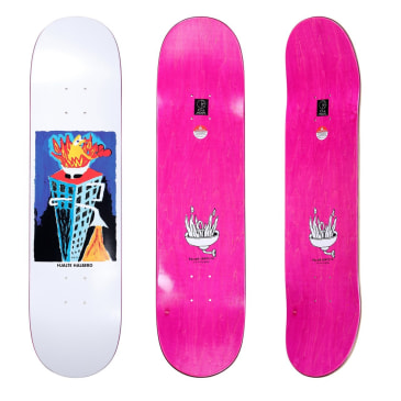 Polar Hjalte Halberg Burning Zinc Skateboard Deck - 8.5""