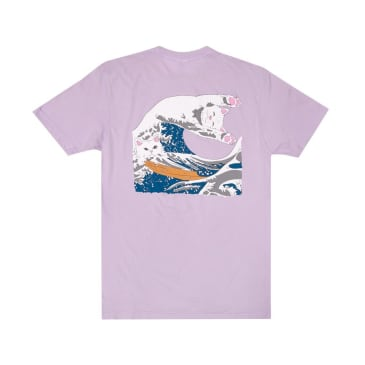 Rip N Dip The Great Wave of Nerm T-Shirt - Lavender